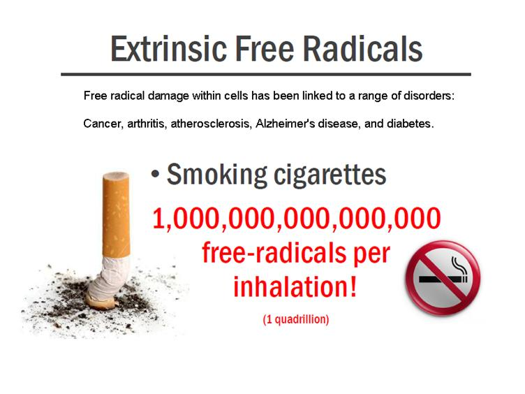 smoking freeradicals